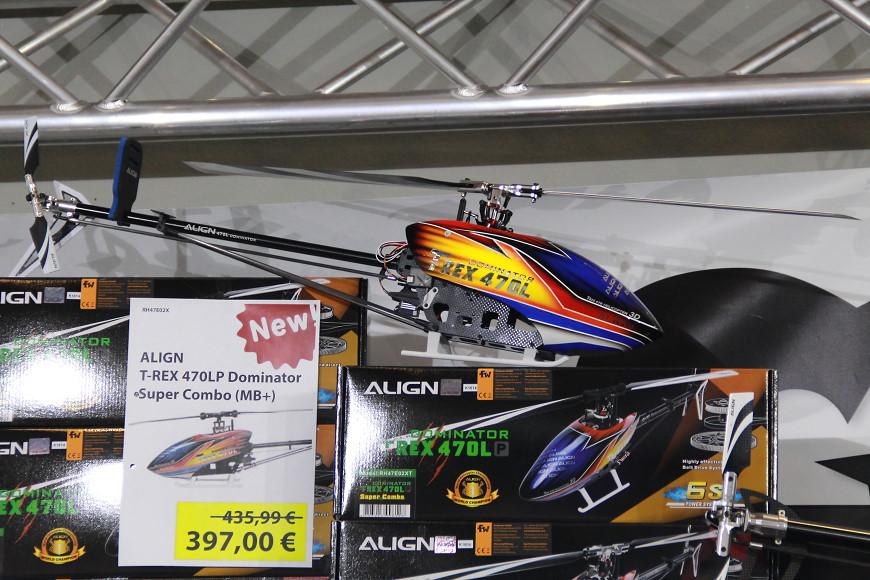 Faszination Modellbau 2016 Friedrichshafen: Align T-Rex 470 am Freakware-Stand