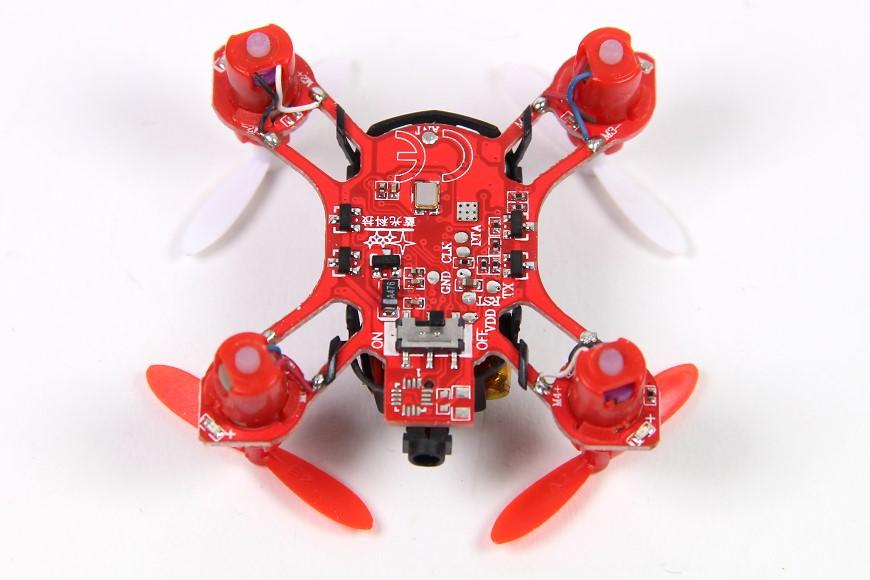 S-IDEE 01163 S-Nano Quadcopter (V282) - Blick auf die Platine