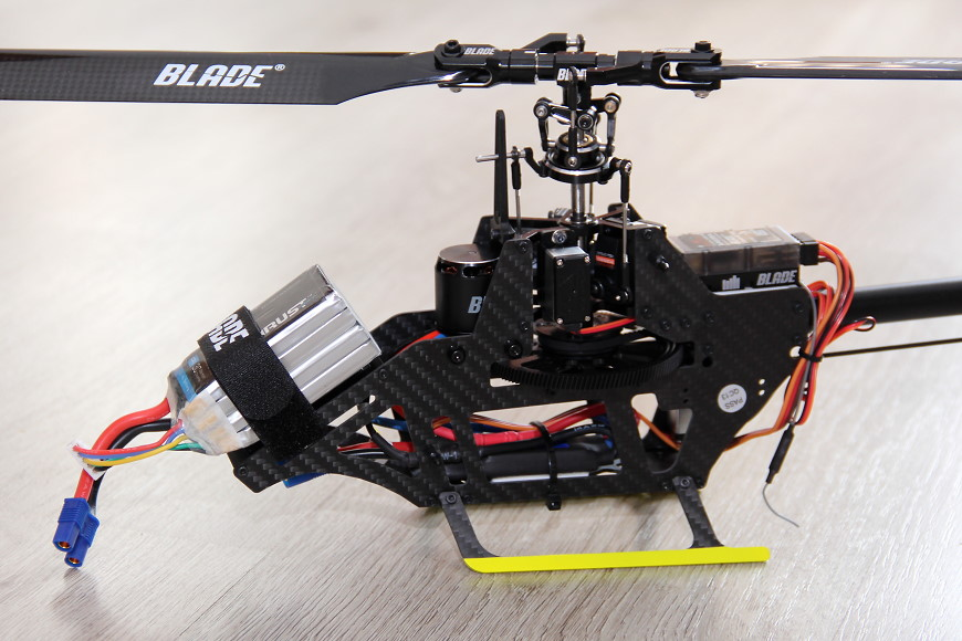 Blade Fusion 270 BNF: Chassis mit montiertem 4S Lipo-Akku
