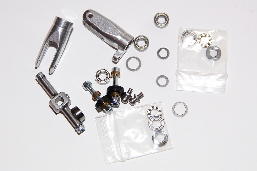 Henseleit TDF - Heckgetriebe: Heckrotornabe, Blatthalter und diverse Lager