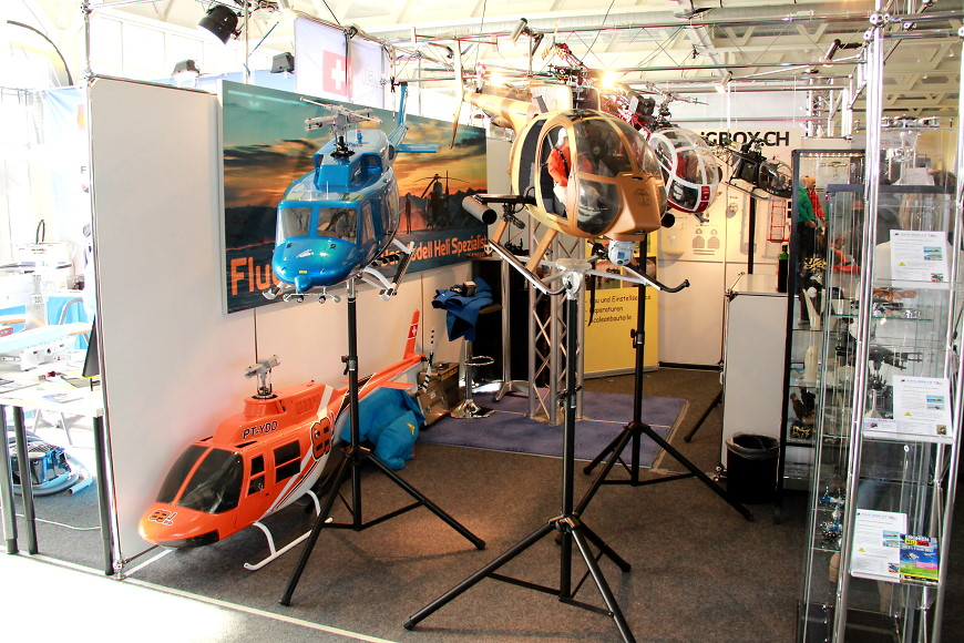 ROTOR live 2017: Diverse Scale Helikopter